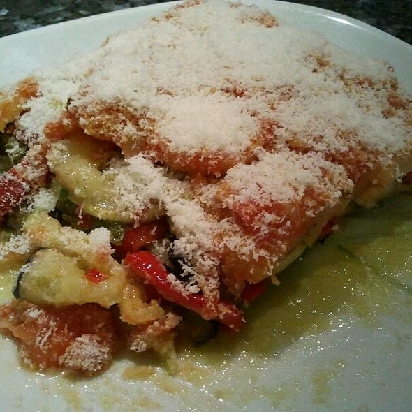 Timbale of Eggplant, Potatoes, Tomatoes and Parmesan Cheese  @ Mi Casa. My Home