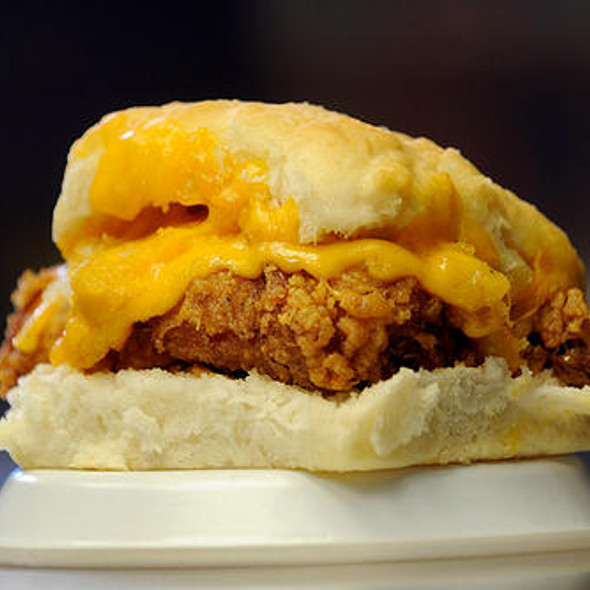 Chicken Cheddar Biscuit @ Time-Out Restaurant