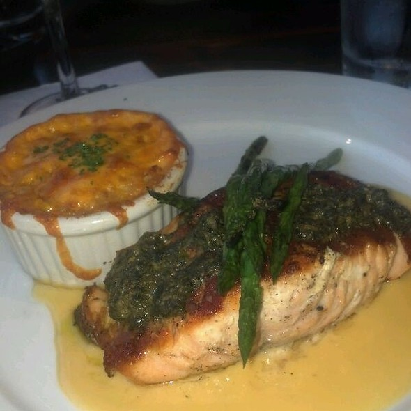 Pesto Salmon @ District Roof Top Bar And Grille