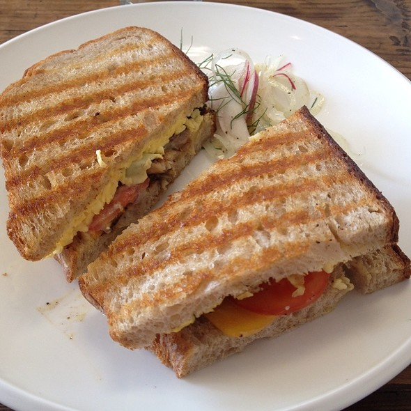 breakfast panini @ Clementine Gourmet Marketplace & Cafe
