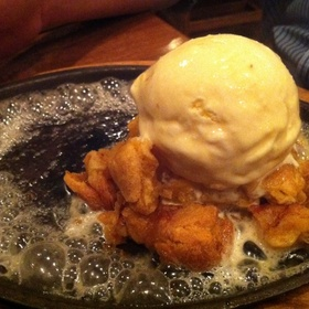 Apple Dumpling w/ Ice Cream