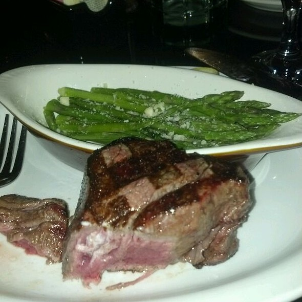 Filet And Asparagus @ Peddler Steakhouse