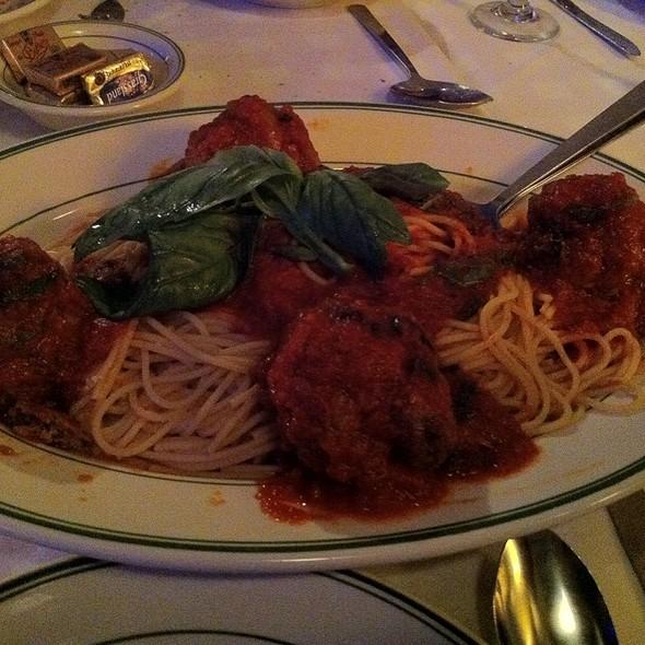 Spaghetti and Meatballs - Tony's Di Napoli – Upper East Side., New York, NY