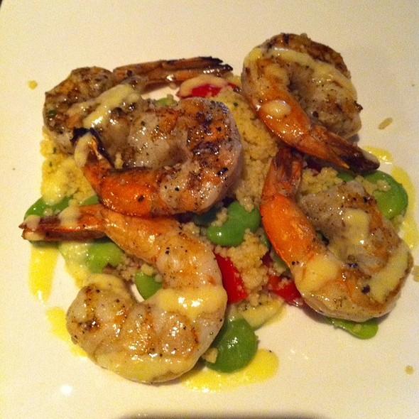 Shrimp With Couscous - Acre Restaurant, Chicago, IL