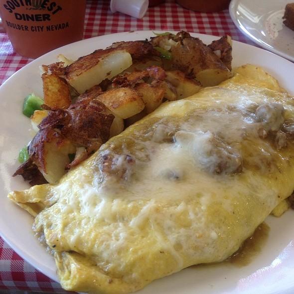 Chili Verde Omlette @ Southwest Diner