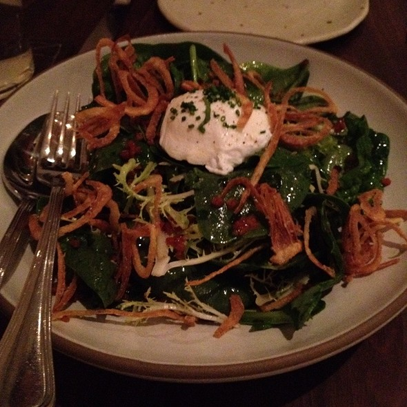 Spinach Salad With Bacon Vinagrette @ Frances