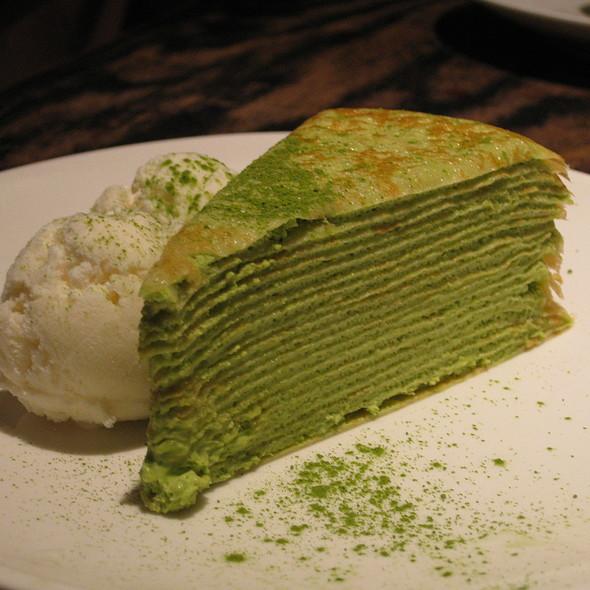 Green Tea Mille Crepe @ Gyu-Kaku