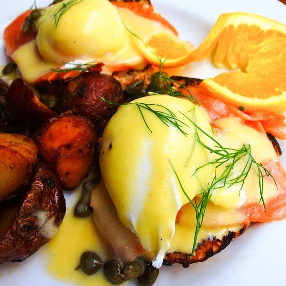 Norwegian Style Eggs Benedict - Almond, New York, NY