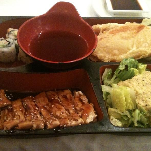 Lunch Box Chicken Teriyaki, Tempura And Sushi @ Tl's Four Seasons Chinese & Japanese Restaurant