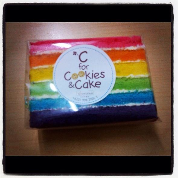 Rainbow cake @ Shokupan Japanese Bread