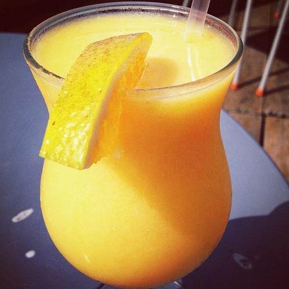 rocket smoothie. #mango #pineapple @ Playa Paraiso