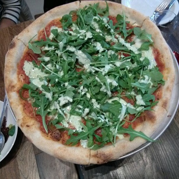 Starbelly Bacon, Jalapeno, And Arugula Pizza @ Starbelly
