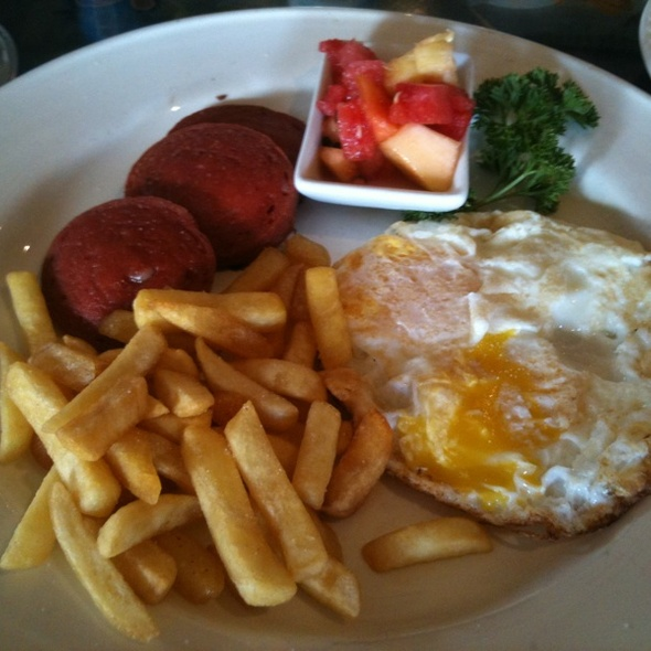 Eggs With Salami  @ Bailys Cafe