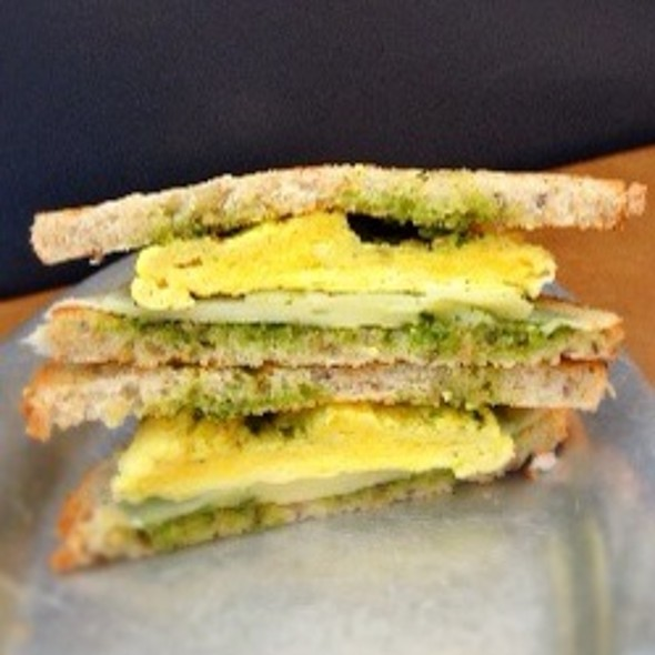 Pesto Egg Breakfast Sandwich @ Mugshots and Cafe