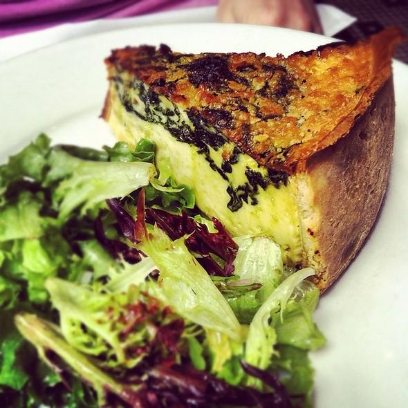 Spinach Quiche - Coquette Brasserie, Raleigh, NC