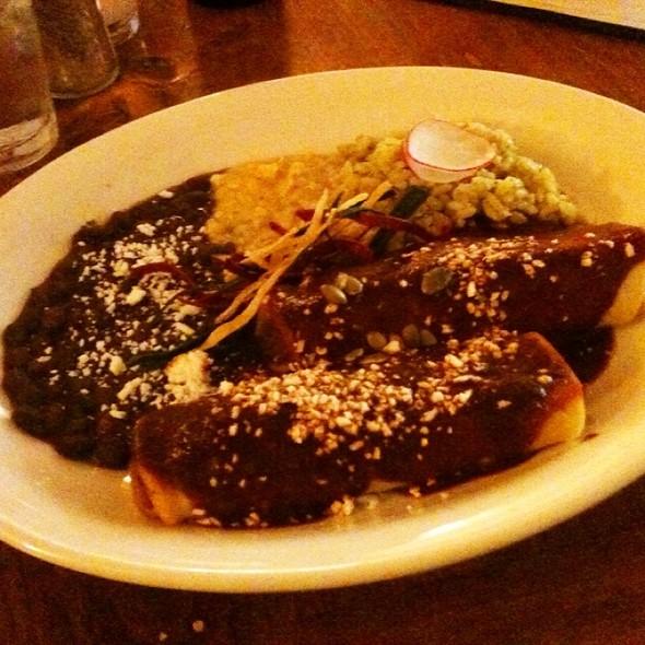 Rabbit Mole Enchiladas @ Buck's Grill House