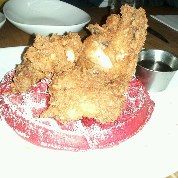 Chicken and Red Velvet Waffles @ Sugar Coated Radical: Food Based Socio-Political Commentary