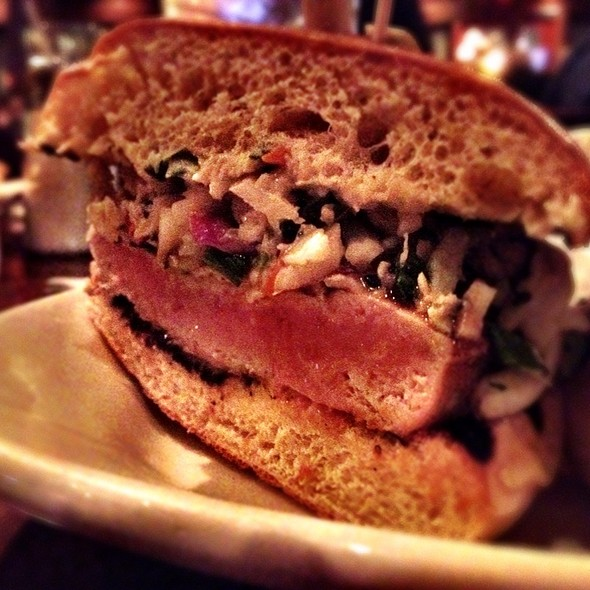 Asian Ahi Tuna Burger @ Lazy Dog Cafe