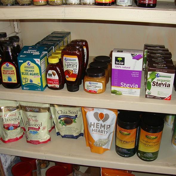 Wholesome Sweeteners Organic Agave, Honey & Stevia @ Oasis Juice Bar