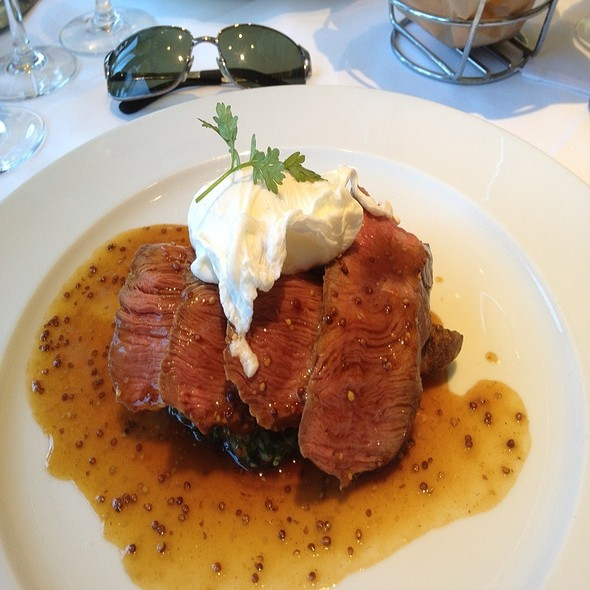 Grilled Flat Iron Steak And Poached Egg