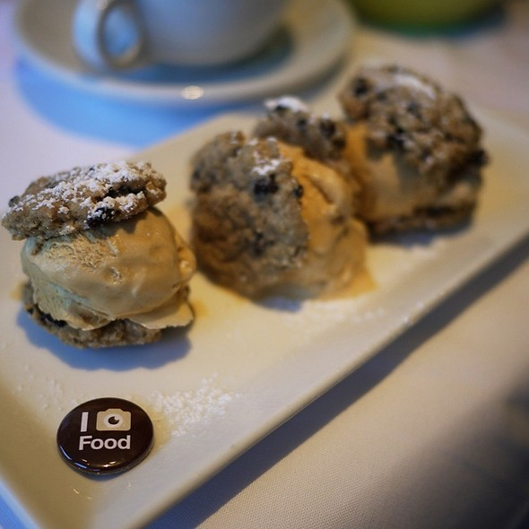 Salted Caramel Ice Cream Sandwiches - Chaya Brasserie, San Francisco, CA