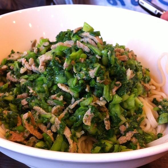 Pickled Mustard Greens & Pork Dry Noodle at Nice Time Cafe