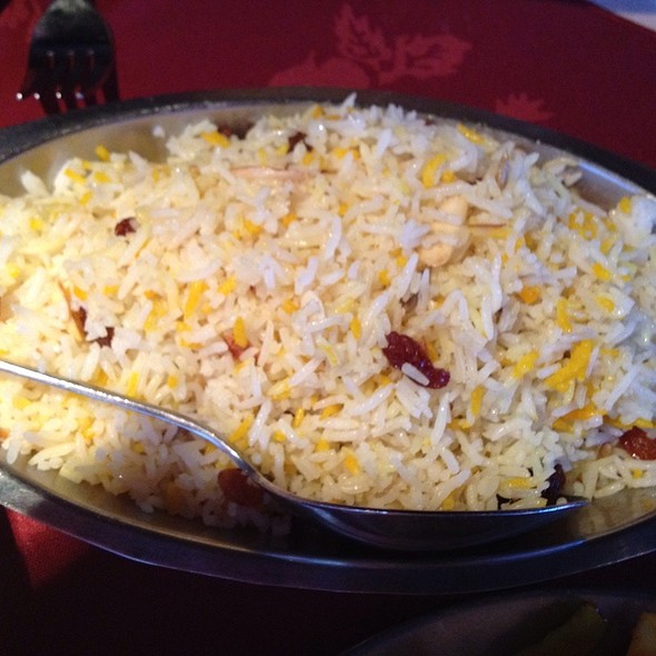 Kashmiri Pulao - Saffron Rice With Dried Fruits And Nuts - Moti Mahal Restaurant - 17th Ave, Calgary, AB