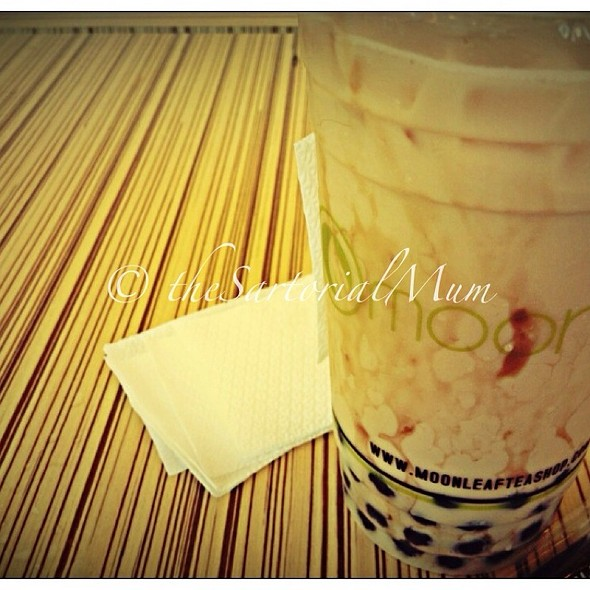 wintermelon milk tea @ Moonleaf Tea Shop The Columns