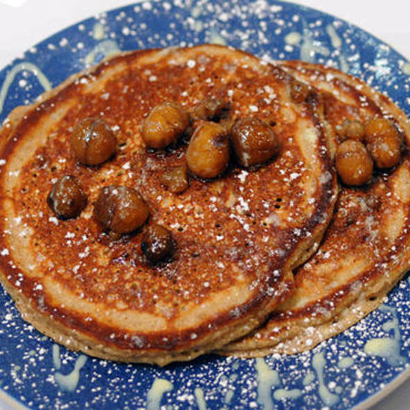 Hot chestnut pancakes @ Norma's at Le Parker Meridien Hotel