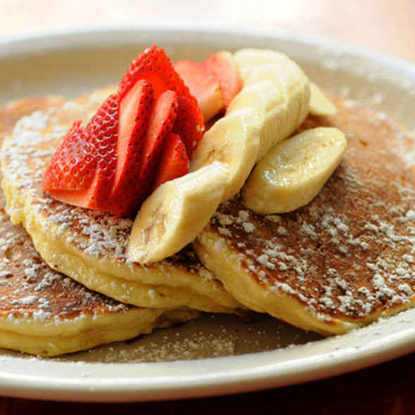 Sour Cream Pancakes @ Bubby's Restaurant Bar-Bakery