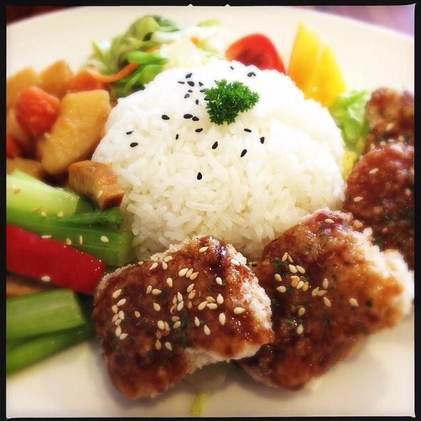 Veggie Chicken Rice @ Kuan Yin Tea House
