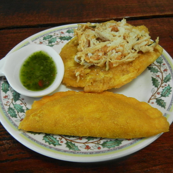 Colombian Empanada and Patacones @ Bolivar Restaurant and Lounge