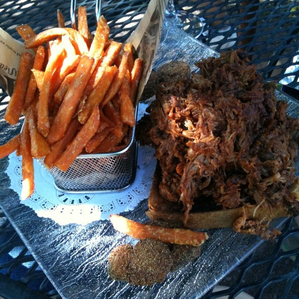 Pulled Pork And Sweet Potato Fries @ Parc Bistro
