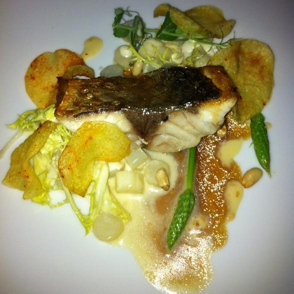 Salmon On Asparagus @ Shane's Restaurant