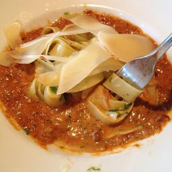 Tagliatelli With Spicy Lamb Sausage Bolognese @ 8407 kitchen bar