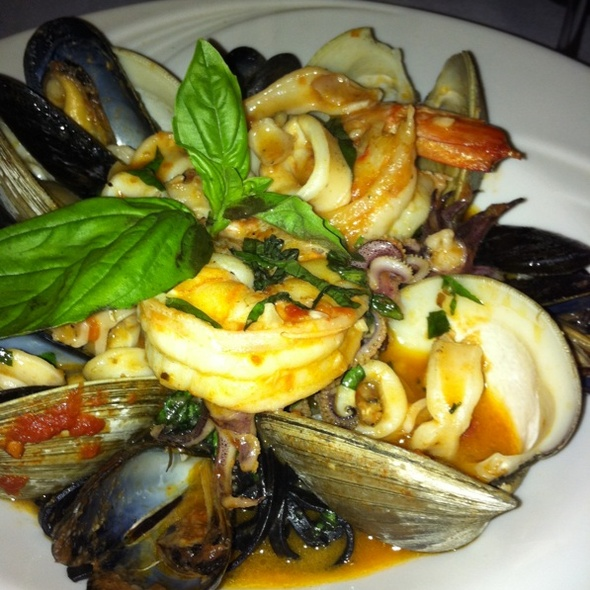 Squid Ink Linguini With Seafood - Firenze, New York, NY