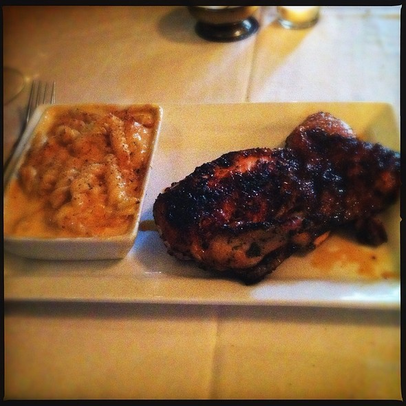 Chicken Under A Brick W Smoked Gouda Mac And Cheese - Jolie's Louisiana Bistro, Lafayette, LA