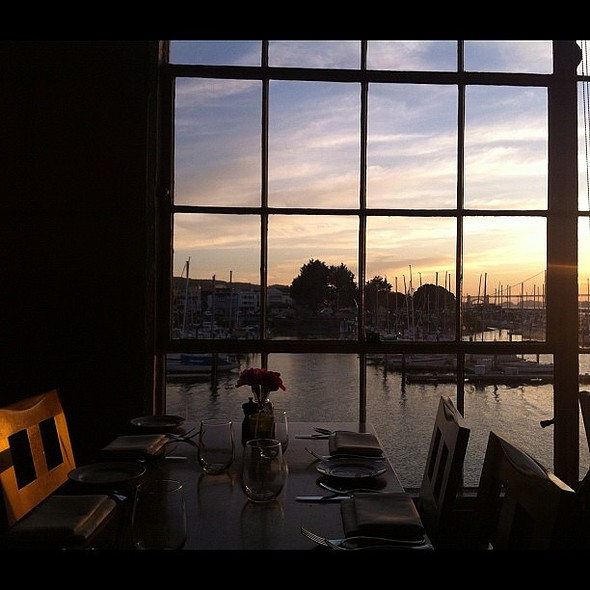 sunset view from an exceptional restaurant @ Greens Restaurant
