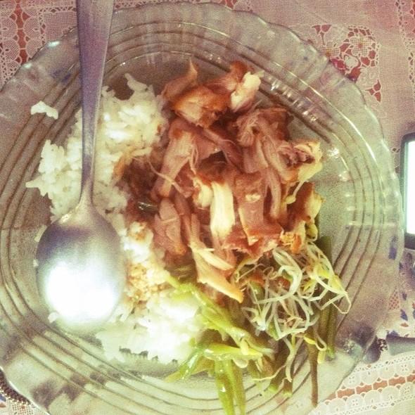 Chicken, Rice  @ Santo Boma