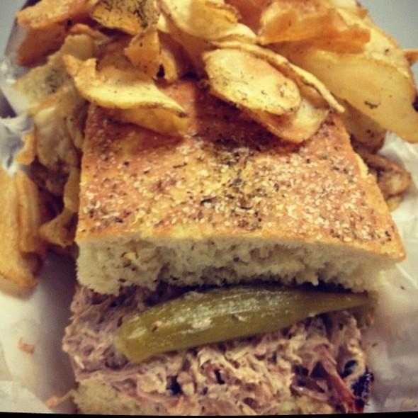 The Alabama Sandwich @ Bone-In Artisan BBQ Truck at Big Apple