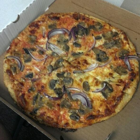 Mushroom and Onion Pizza @ 8 1/2