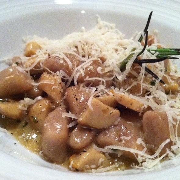 GNOCCHI,chestnut gnocchi with porcini mushrooms and taleggio cheese  - Tiella, New York, NY
