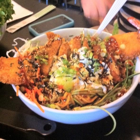Chicken & Shrimp Katsu Bibimbop @ bopNgrill