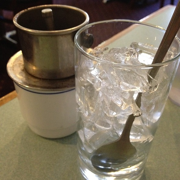 Iced Vietnamese Coffee @ Golden Flower Vietnamese