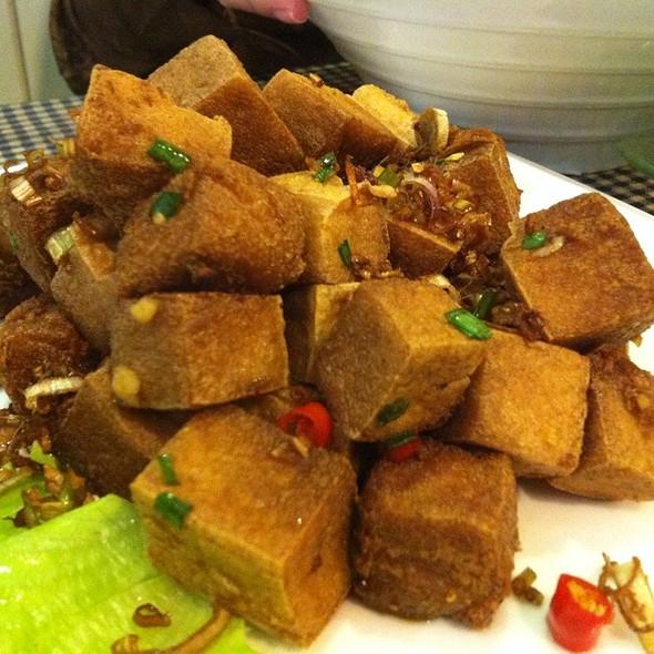 Crispy Fried Tofu With Chili Shallots & Lemon Grass :-)) @ Pho One