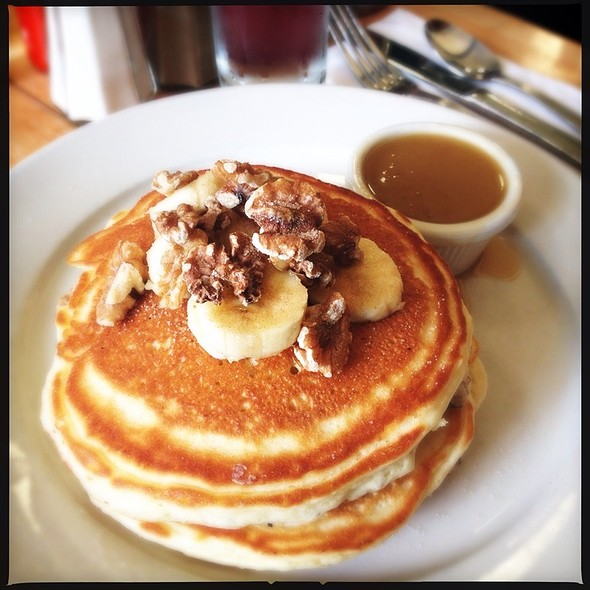 Banana Walnut Pancakes With Maple Butter @ Clinton Street Baking Co
