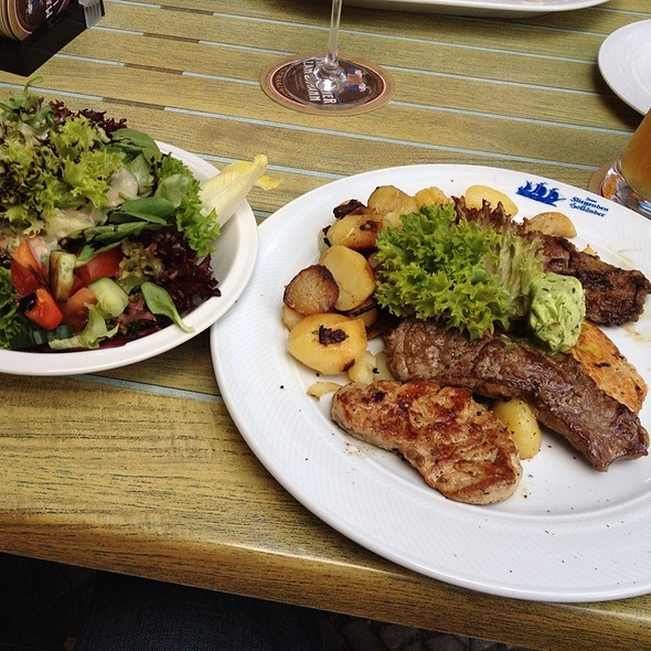 Steakplatte @ Restaurant Zum Fliegenden Holländer