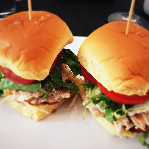 Roasted Chicken Club Sandwich @ Cafeina