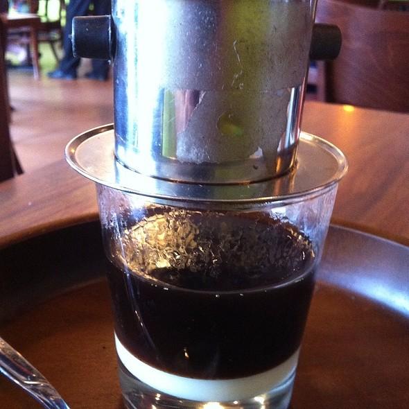 Hot Vietnamese Coffee @ Saigon Bistro