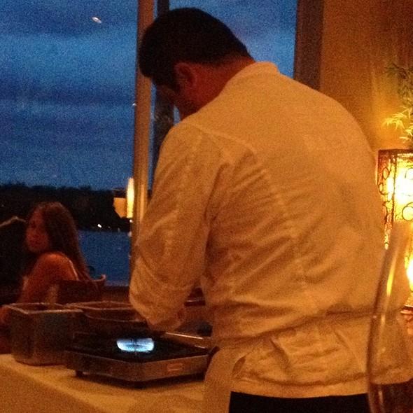 Chef Making Black Grouper - Bayfront Bistro, Fort Myers Beach, FL